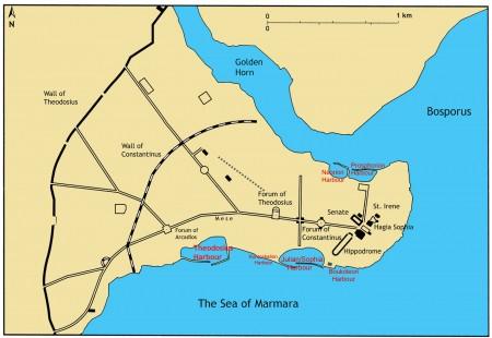 Tarihi Yarımada'daki Bizans Dönemi Limanları